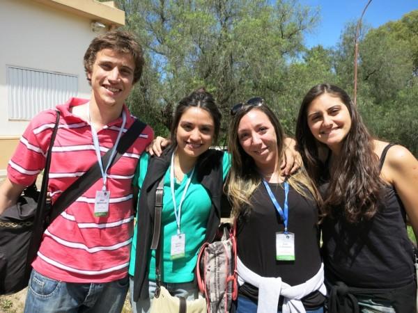 De izq. a der.: Alan Bahnmüeller, Noelia Nieva, Ana Calissano, y Azul Gilabert.