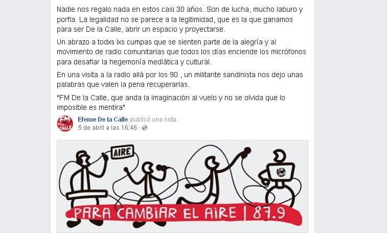 Emiliano Randazzo, integrante del colectivo, también se expresó en las redes sociales.