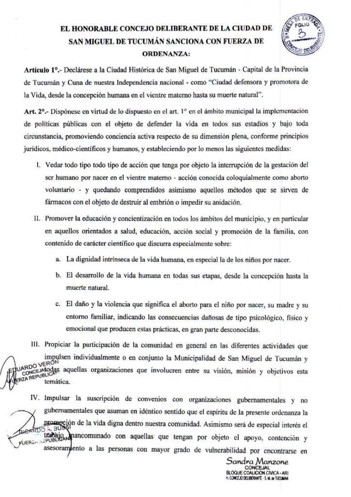 Ordenanza 3